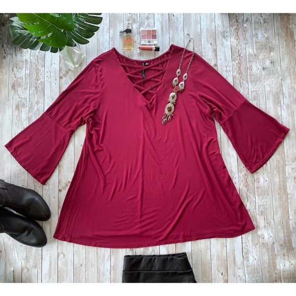 Nine Four One bell sleeve boho hippie blouse